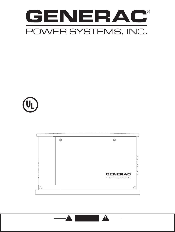 Generac 005251 005252 005253 005254 005255 Installation Manual Guide