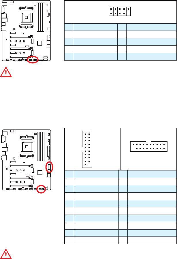 MSI X370 User Guide Download - JUSB1~2: USB 2 0 Connectors