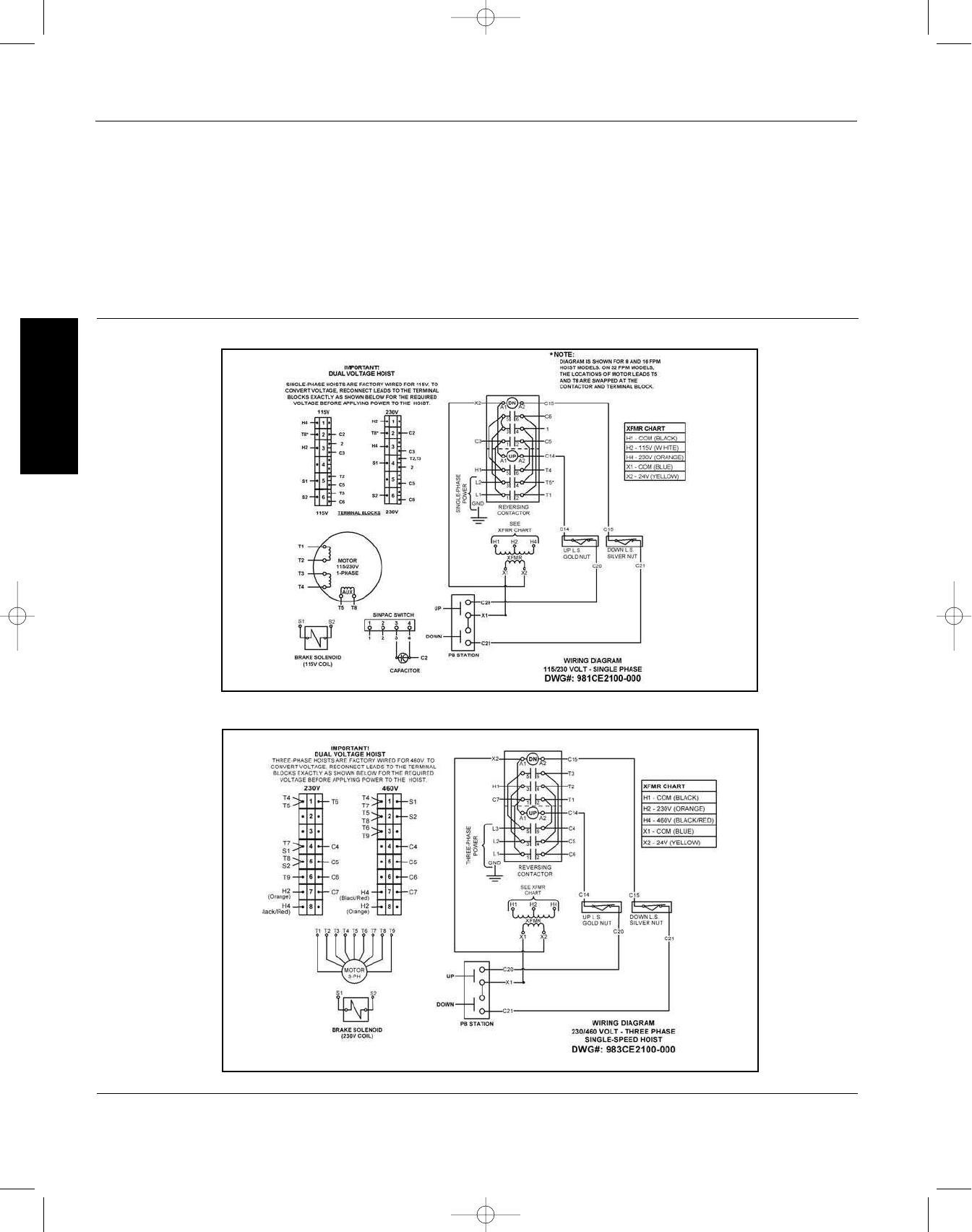dayton electric hoist wiring diagram - wiring diagram budgit hoist wiring schematic